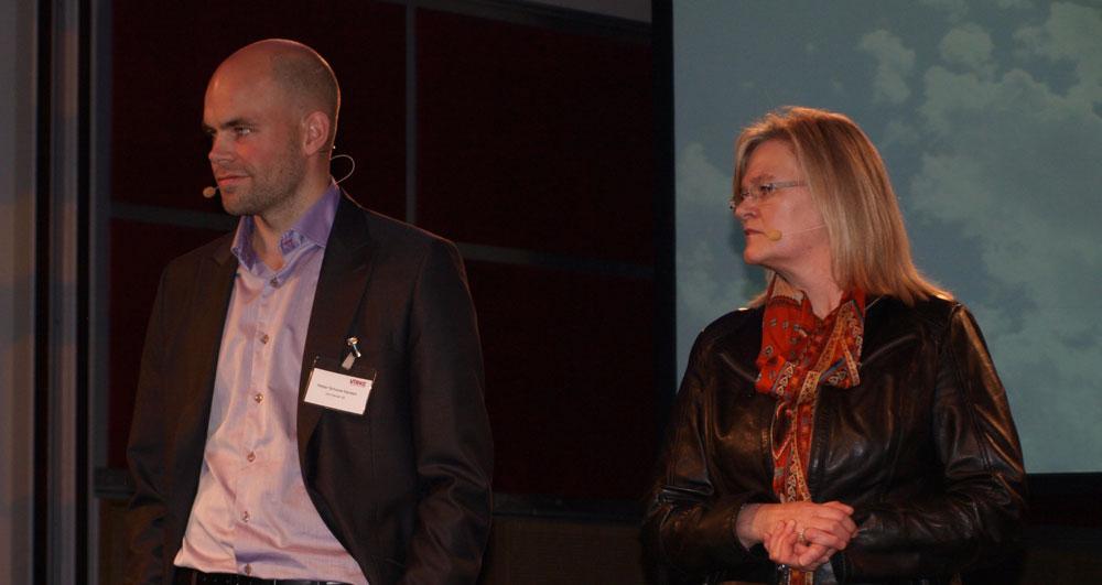 Radarparet Kjersti Hobøl og Petter Schouw-Hansen er fortsatt sulten på ytterligere vekst. (Foto: Odd Henrik Vanebo)