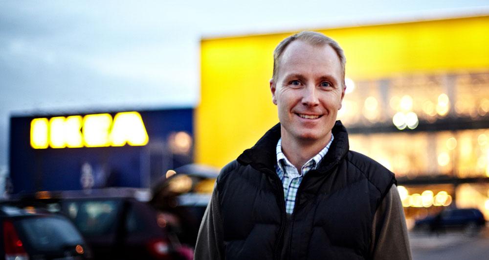 Peter Agnefjäll: – Vi på IKEA ønsker også å inspirere og sette kundene våre i stand til å leve et mer bærekraftig liv hjemme. (Foto: IKEA)