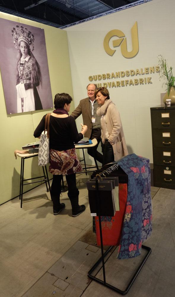 Gudbrandsdalens Uldvarefabrik er en tradisjonsrik norsk bedrift som fikk fram tradisjonene på sin utstilling. (Foto: Odd Henrik Vanebo)