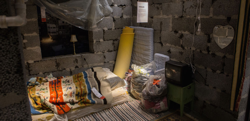 Et sovehjørne i den primitive leiligheten. (Foto: IKEA)
