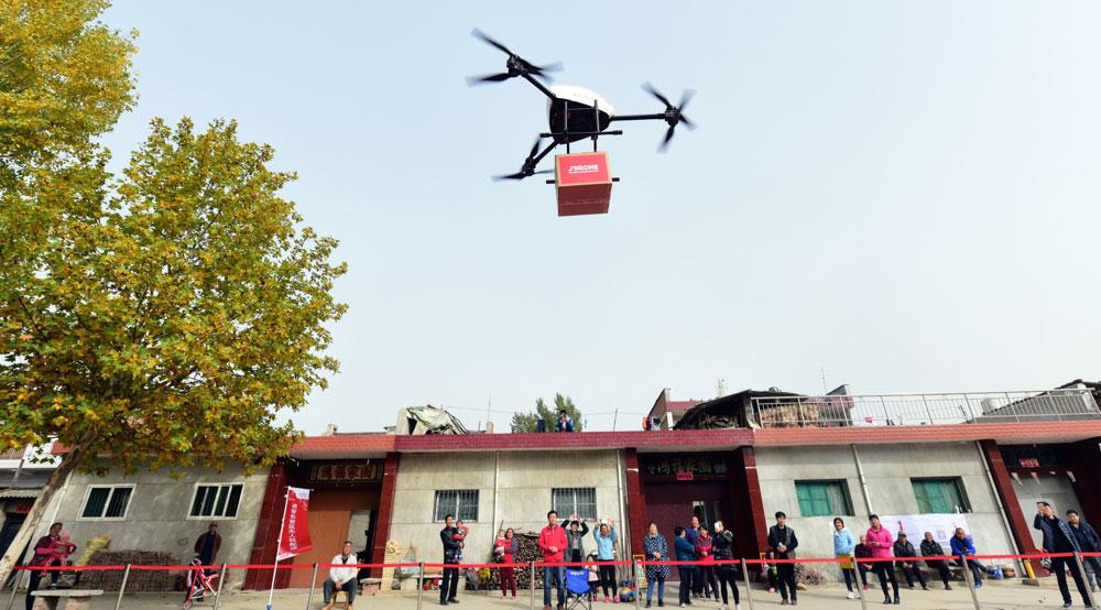 Droner som kan transportere nyttelast på et tonn eller mer, har vakt internasjonal oppsikt. (Foto: Fortunedotcom.wordpress.com)