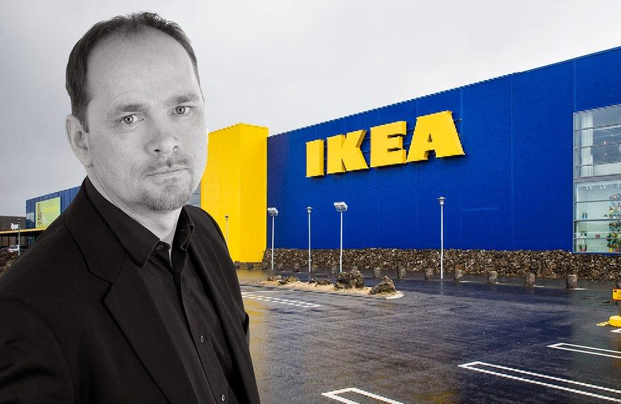 Ikea-sjefen Þórarinn Ævarsson gjør det han synes han må. (Foto: Ikea)
