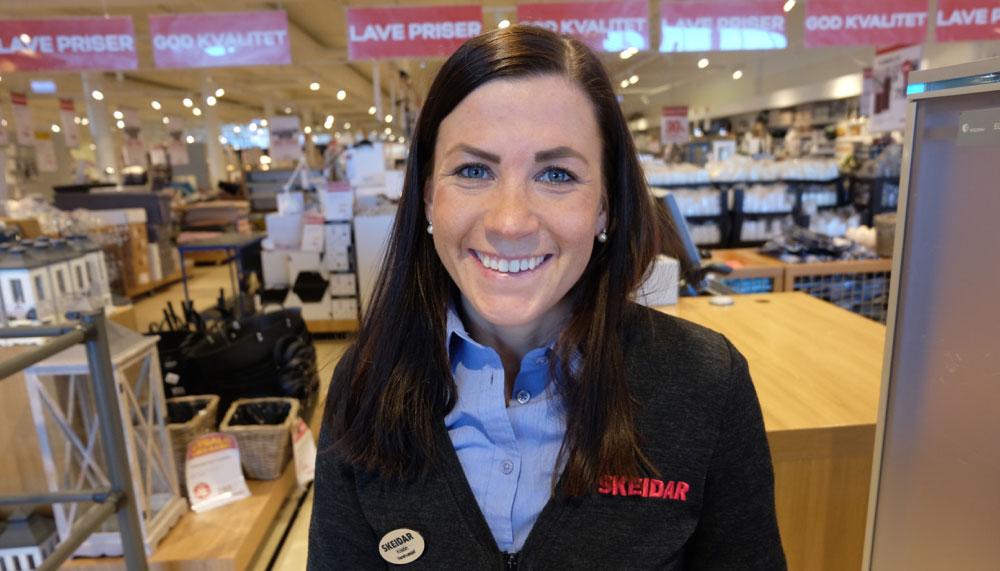 Kristin Harila, her fotografert i fjor i varehuset i Tromsø, er hentet til stillingen som driftssjef ved Skeidars hovedkontor i Vestby. (Arkivfoto: Odd Henrik Vanebo)