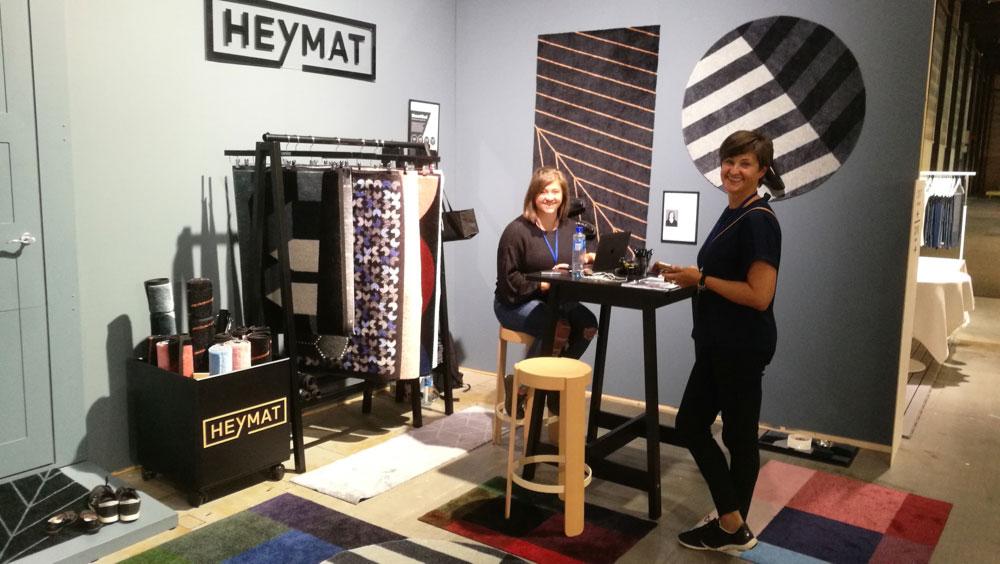 Heymat, som var medarrangør av designkonkurransen, er en av mange utstillere som er fornøyd med ODF høst 2017. (Foto: Lars Urheim)