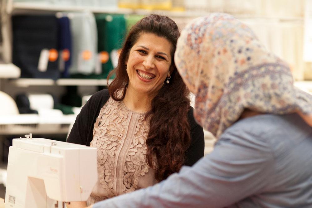 Sytjeneste for å integrere innvandrerkvinner etablert på IKEA Slependen. (Foto: IKEA)
