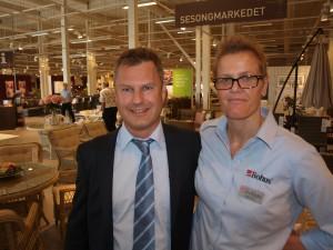 Adm.dir. Henrik Berg i Bohus Holding AS og daglig leder Mette Aakvåg er skjønt enige om at Bohus på Bergskog i Drammen er blitt et særdeles flott møbel- og interiørvarehus.