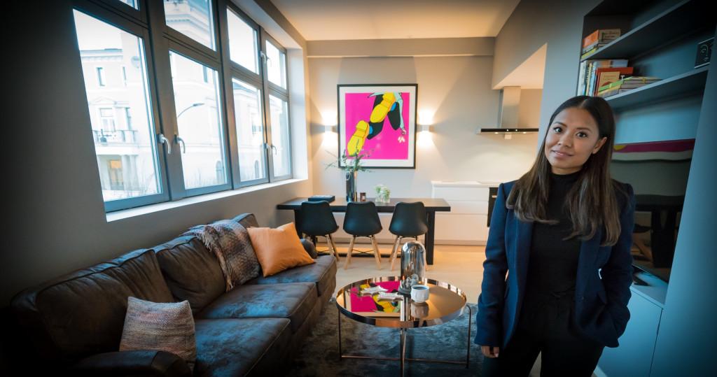 Hjemme hos en kunde i Oslo som hadde kjøpt leilighet. Denice Hagen stod for oppussing, stylet alt og hjalp til med møblering og dekorering. (Foto: Privat)