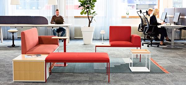 Nylanerte EFG Create Seating kan settes sammen fritt.
