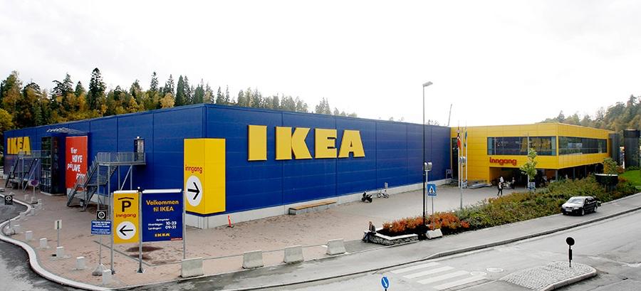 Det var her på IKEA Slependen like utenfor Oslo at 37-åringen begikk bedrageriene i oktober 2015.