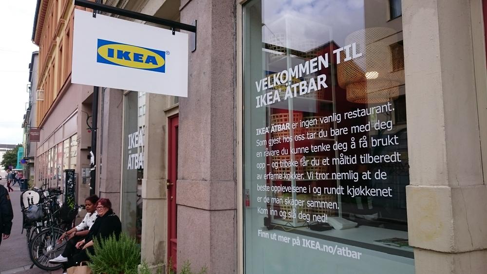 Ätbar' var en pop-up' som her i Oslo for et par år siden som ledd i en kampanje. (Foto: Ikea)