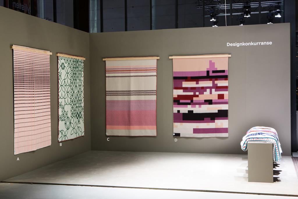 Utstillingen med de fire finalistene som besøkende kan stemme på. (Foto: Inger Mari Grini/ODF)