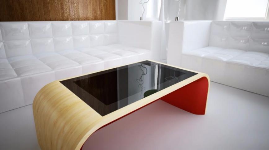 Møbler for morgendagen: et interaktivt bord med 'touch screen'. (Foto: alibaba.com)