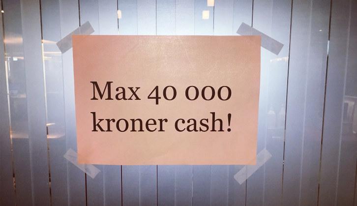 Ifølge regjeringens forslag, skal butikker avvise kontantbeløp over 40 000 kroner. (Foto: NHO)