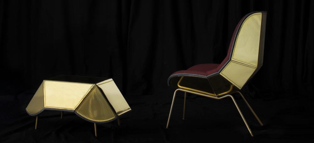 'Scaeab Metal' er et godt eksempel på møbler sydd i metall. (Foto: Swedish Design Moves)