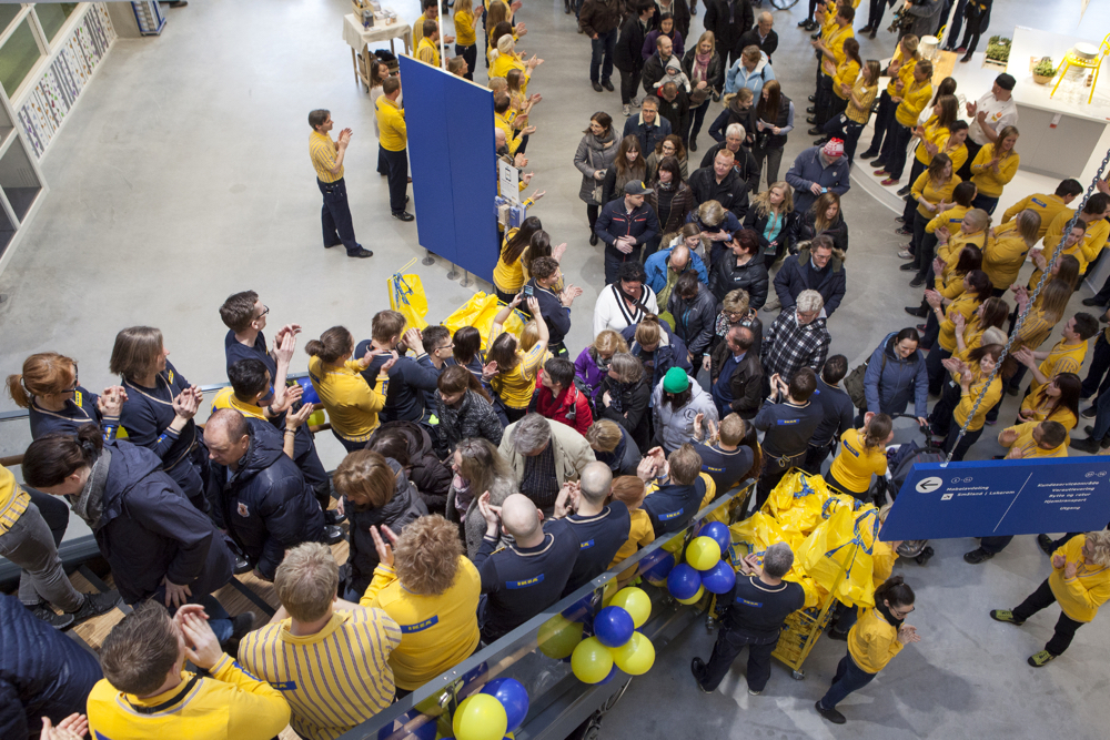 Illustrasjonsfoto fra åpningen av IKEA-varehuset i Ringsaker i 2015. (Foto: IKEA)