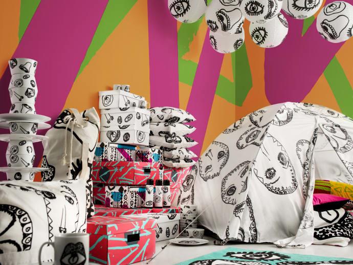 SPRIDD er en grafisk og fargeglad kolleksjon med telt, tøybager, oppbevaringsbokser og mye annen praktisk moro. Det er en limited edition-kolleksjon som blir lansert 10. februar.