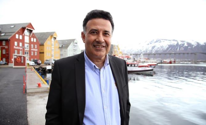 Yogi Shergill, prosjektleder i India, ser stort potensial for norsk sjømat. (Foto: Andreas Ingebrigtsen)
