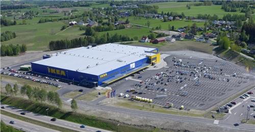 Varehuset i Ringsaker som åpnet 19. mars i fjor, var det fjerde og foreløpig siste i Norge. (Foto: IKEA)