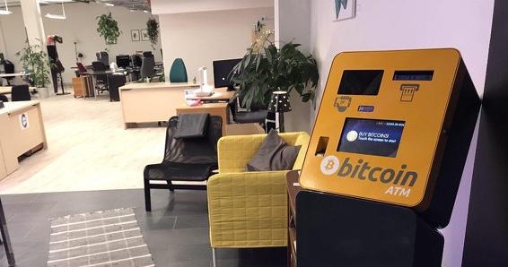 Den første 'minibanken' for kryptovalutaer i Norge er å finne i nærsenteret Kiellands hus på St. Hanshaugen. (Foto: The Kasbah Hub)