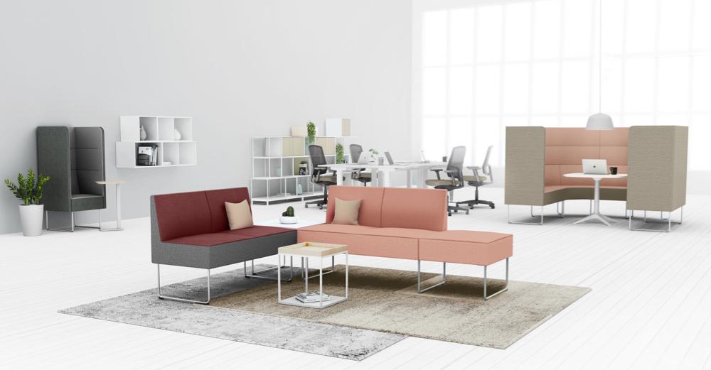 EFG Mingle er en mobulbasert sofa med norsk design. (Foto: EFG)