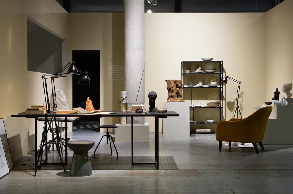 Oslo Design Fair åpnet i dag. Her fra verkstedet i utstillingen 'Tendenser. (Foto: ODF/MarieGrini – styling KirstenVisdal/stylist Per Olav Sølvberg)