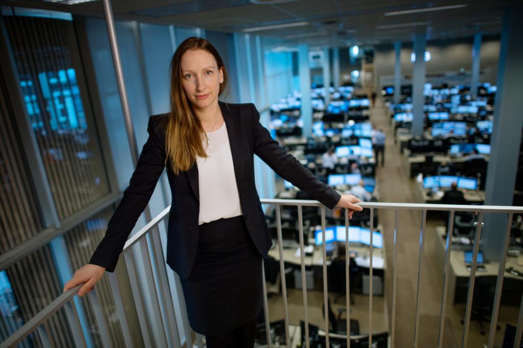 Kjersti Haugland: – Norges Banks anslag om en forbruksvekst på 2,1 prosent i år ser ut til å holde seg godt. (Foto: DNB)