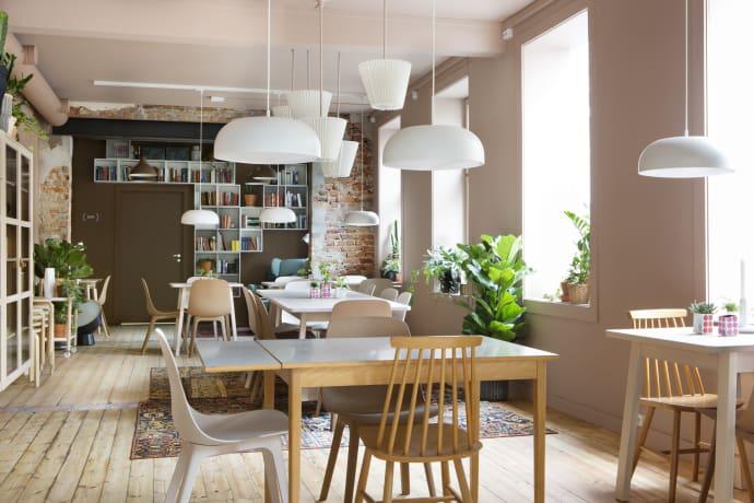 Frokostkafeen på Grünerløkka som TINE og IKEA er sammen om. (Foto: Inger Marie Grini)