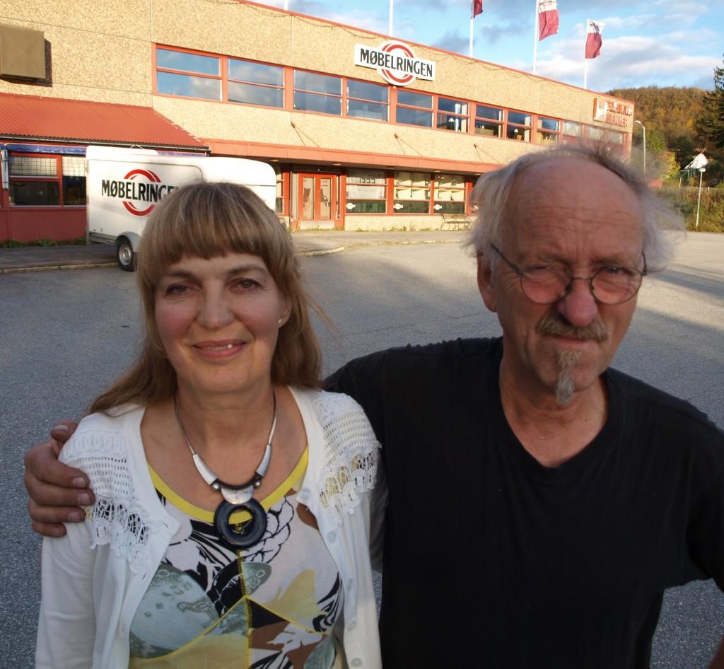 Ulla-Pia og Jan Øvergård driver Møbelringen Bjerkvik, under selskapsnavnet Bjerkvik Møbler AS. (Arkivfoto: Odd Henrik Vanebo)