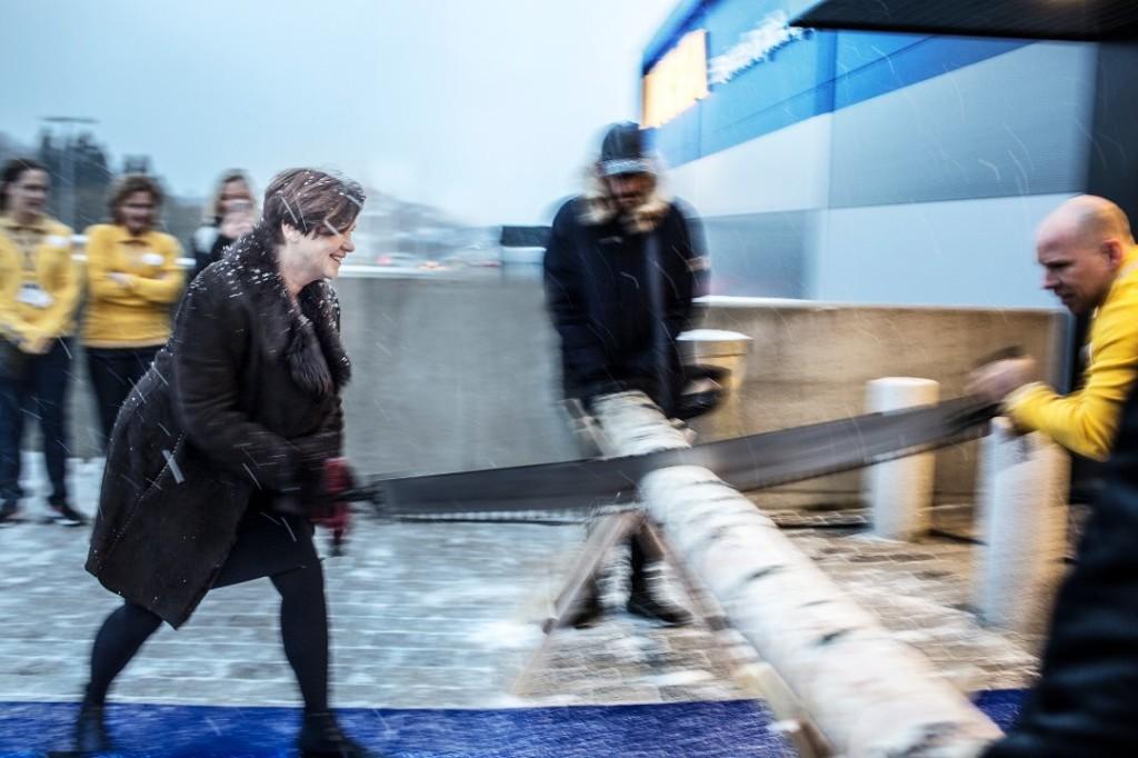 Enn så lenge må Ålesund nøye seg med sitt IKEA pick-up point som åpnet i januar i fjor på Nordre Holen, ikke langt fra det store kjøpesenteret påå Moa. (Foto: IKEA)