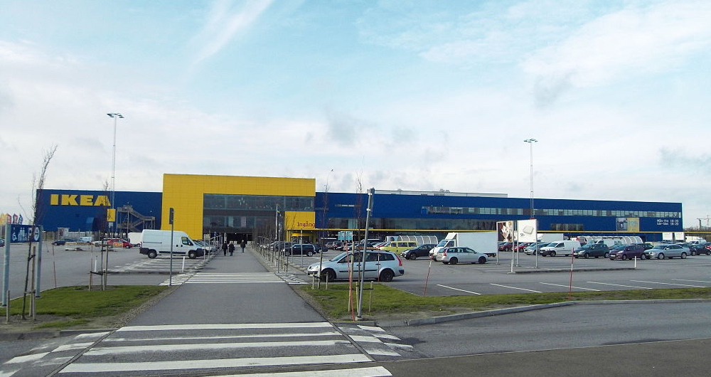 Ikea urokkelig som Sveriges sterkeste varemerke i handelen, her representert ved varehuse i Svagertorp i Malmö. (Foto: Wikipedia)