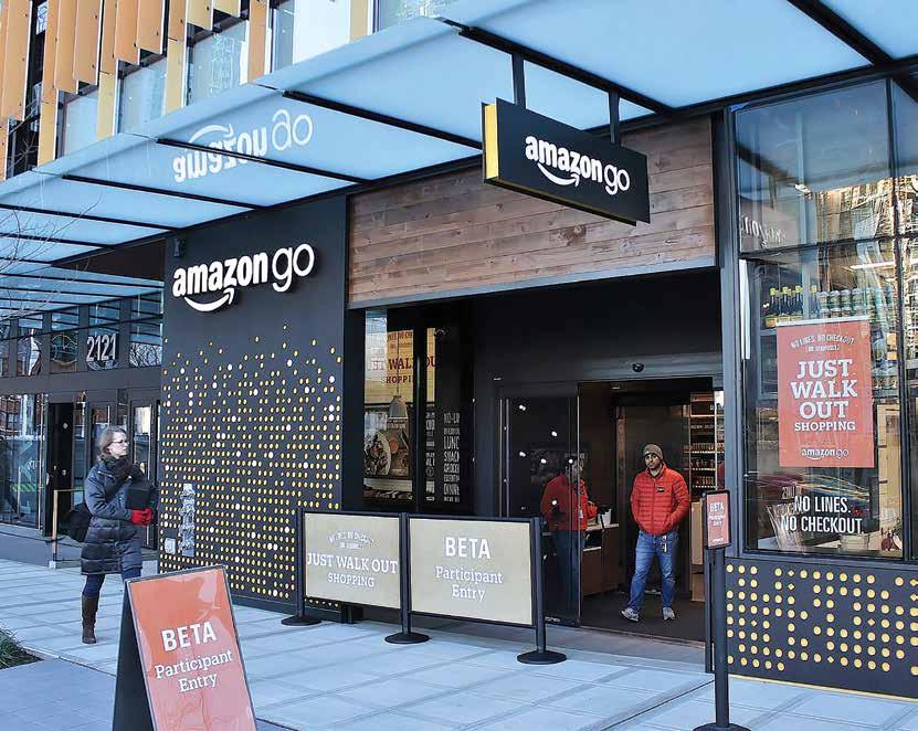 Amazon var som vanlig tidlig ute, denne gang med ubemannede butikker.