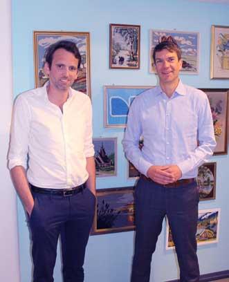Philip Eriksson t.v. er leder for FINN Shopping og Anders Skoe er leder for både brukt og nytt(foto: Knut Skoe)