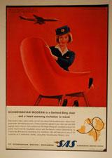 Modellen Marina, fra Stokke, bidro til den Skandinaviske profilen i SAS' annonser