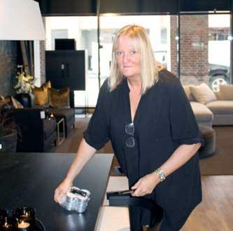 Lise Andersen hos Slettvoll på Karenslyst i Oslo (foto: Knut Skoe).