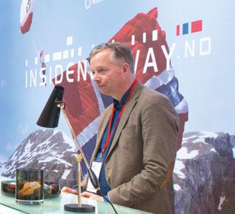Egil Sundet – her under en av eksportfremstøtene ved Milanomessen.