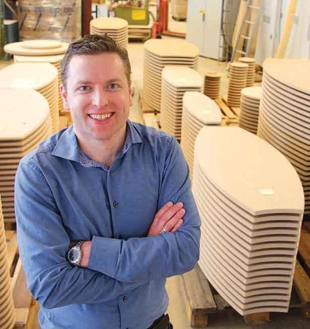 Frode Sandven er daglig leder i Kleppe Møbelfabrikk. Foto: Lars Arvid Oma, Hordaland Folkeblad