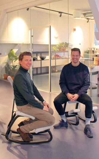 CEO Jesper Brøndum Petersen (t.v.) og E-commerce and Digital strategist Frode Karlsen med Varier Variable – en suksess på nett