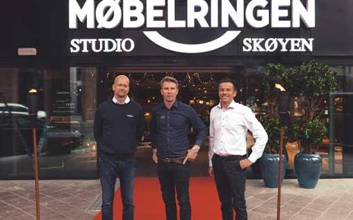 Fra v.: Venstre: Terje Mork, Bjørn Tidemand-Johannessen, Even Woldøen