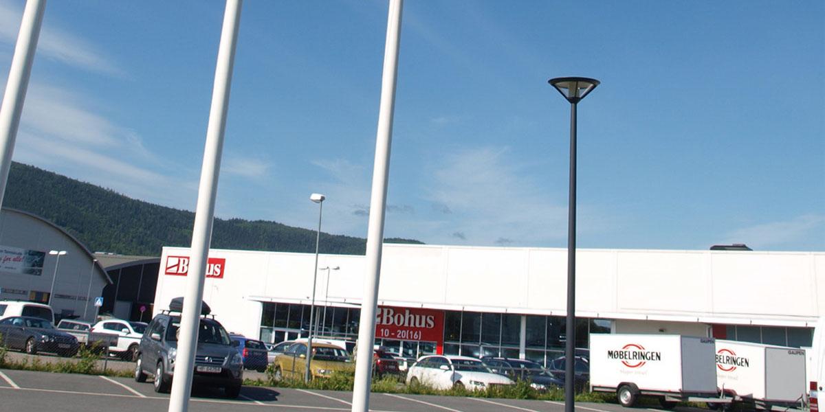 Tett konkurranse i Drammen: Her er Bohus og Møbelringen nærmeste naboer.