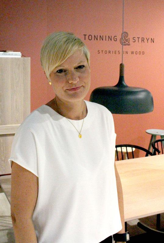 Silje Vollan – her under fjorårets Oslo Design Show på Lillestrøm.